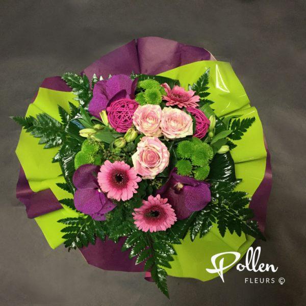 bouquets colorés et élégants chez Pollen Fleurs à Le Mans