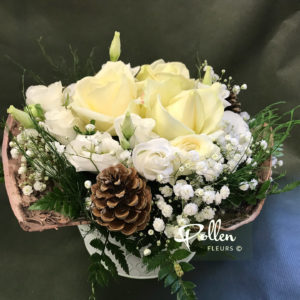 Adriana-bouquet Hivernal, Fleurs Blanches