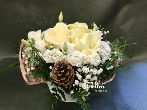 Adriana-bouquet Hivernal, Fleurs Blanches